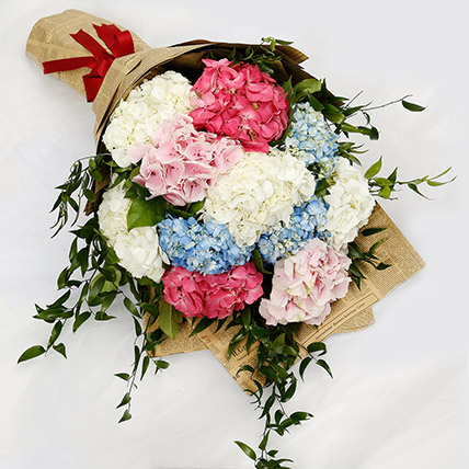 Elegant Hydrangea Bouquet: Birthday Flower Bouquets