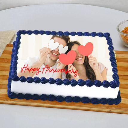 In Love Anniversary Photo Cake: Customized Cakes in Dubai