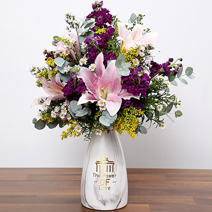 Pink and Purple Flower In Vase: Gifts for Capricornians