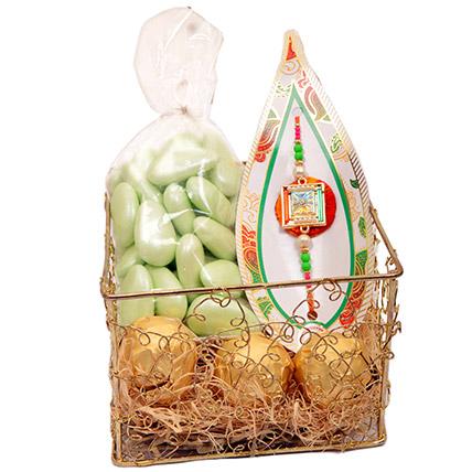 Golden Box Gift Set: Send Rakhi in Sharjah