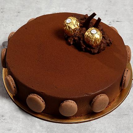 Eggless Ferrero Rocher Cake: Anniversary Eggless Cakes