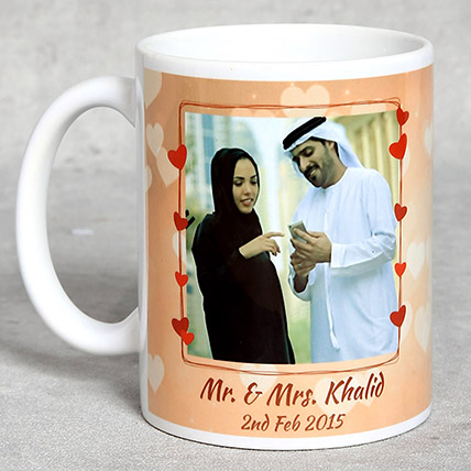 Personalised White Anniversary Mug: Personalised Mugs
