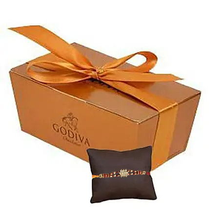 Rakhi with Godiva Chocolate: Rakhi