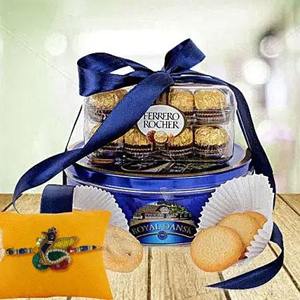 Rakhi with Choco Cokkie Delight: Rakhi With Cookies