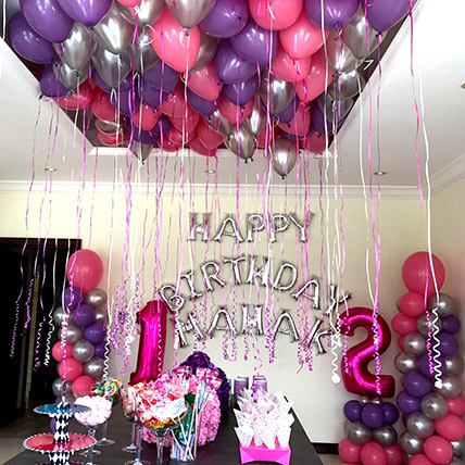 Balloons & Floral Birthday Surprise: Romantic Gifts