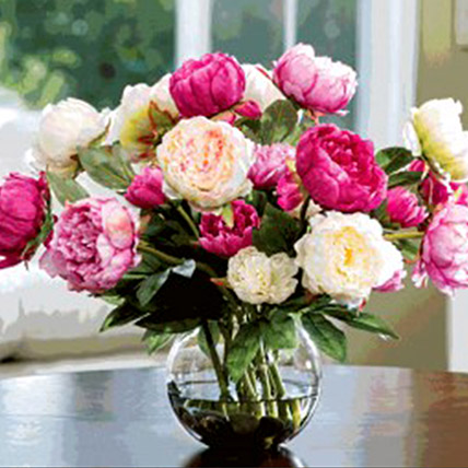 Artificial Mix Coloured Peonies: Gifts for Scorpios