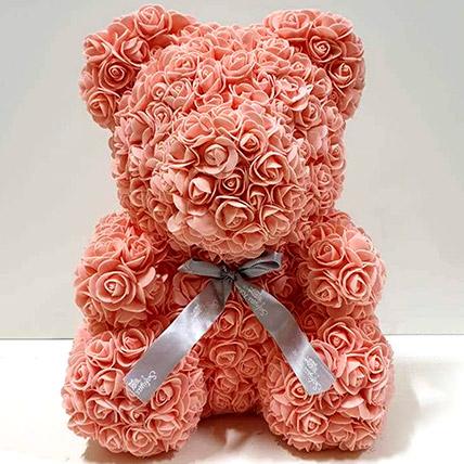 Artificial Roses Peach Teddy: Rose Teddy Bears