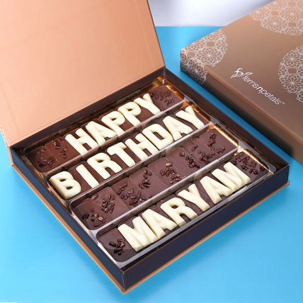 Customized Happy Birthday Chocolate: Personalised Gifts for Mother