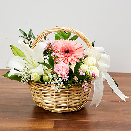 Basket Arrangement Of Gorgeous Flowers: Basket Arrangements