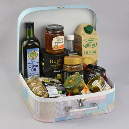 Suitcase Of Snacks: Birthday Gift Hampers