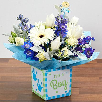 It's A Boy Flower Vase: Newborn Baby Gifts