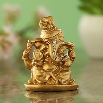 Gold Plated Ganesha Idol Blue: Diwali Gifts 2019