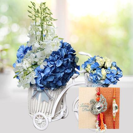 Fresh Outlook with Rakhi: Rakhi With Flowers