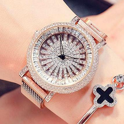 Korean Diamond Star Golden Watch: Accessories