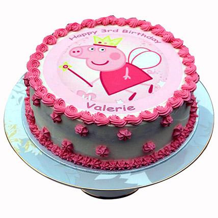 Peppa Pig Designer Pink Cake: Peppa Pig Cake