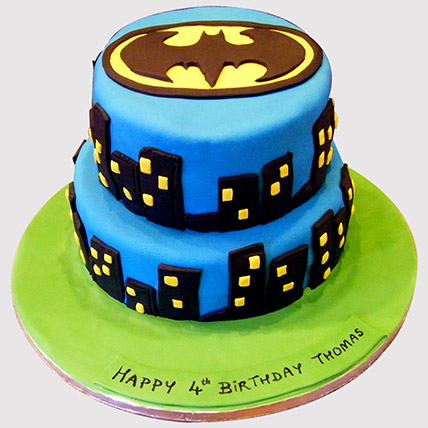 2 Tier Batman Cake: Cakes Delivery for Kids
