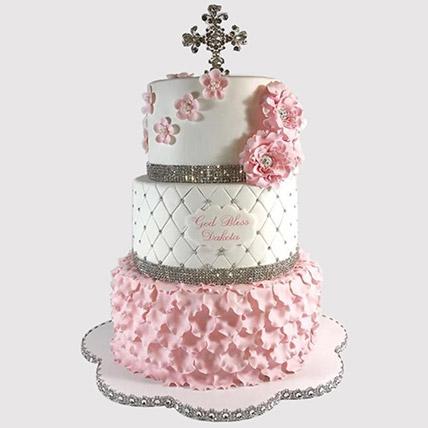 3 Layered Christening Cake: Christening Cakes