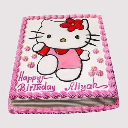Adorable Hello Kitty Cake: