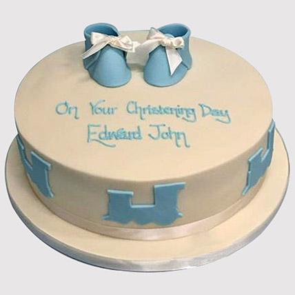 Baby Shoes Cake: Christening Cake