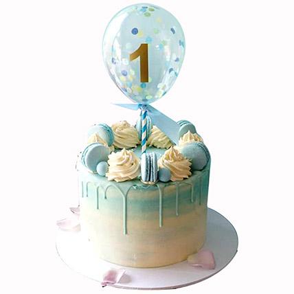 Balloon Decorated Cake: