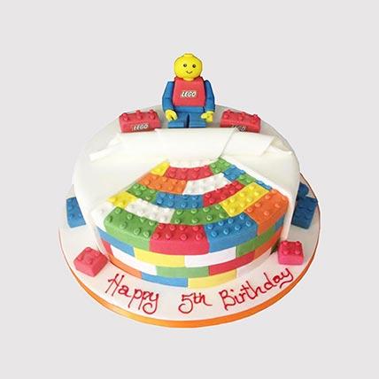 Colourful Legoland Cake: Lego Birthday Cake