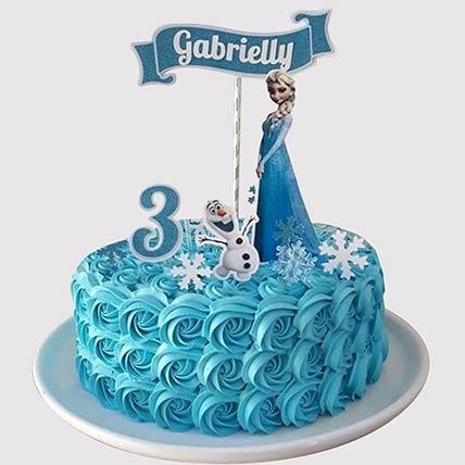 Elsa and Olaf Theme Cake: Frozen Birthday Cake