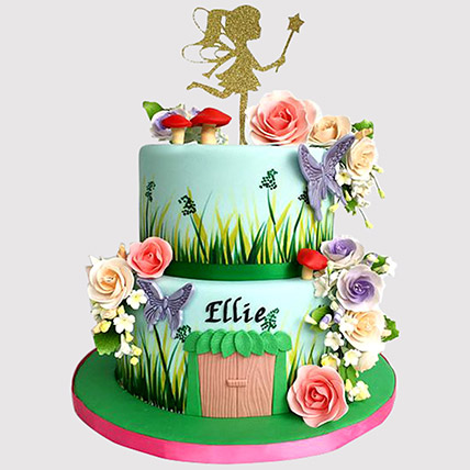 Outstanding Online Tinkerbell Cake Tinkerbell Birthday Cake Ferns N Petals Personalised Birthday Cards Cominlily Jamesorg