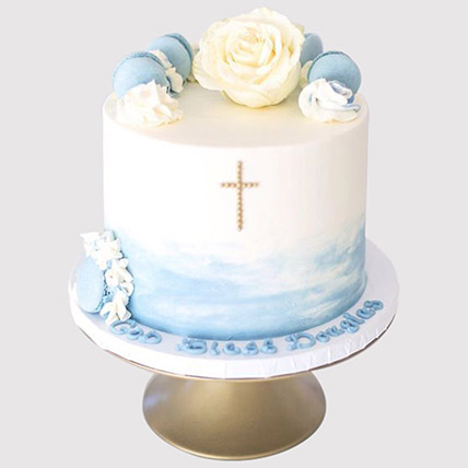 Floral Christening Cake: Christening Cakes