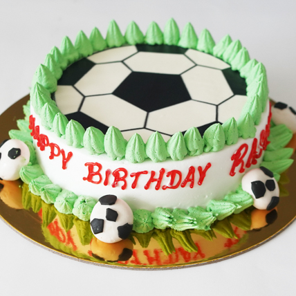 Football Cream Cake: Football Theme Cake