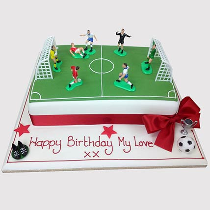 Football Pitch Cake: Football Cakes