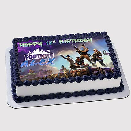 Online Fortnite Cake Fortnite Birthday Cake Birthday Cakes Fortnite Ferns N Petals