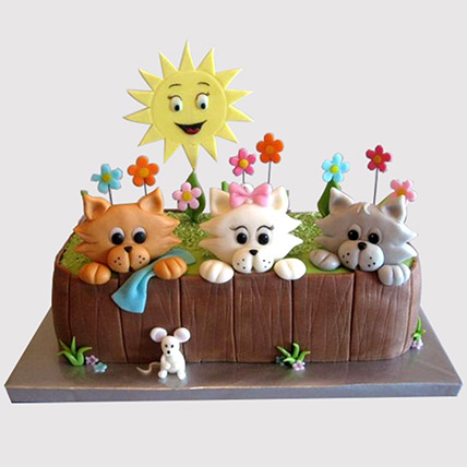 Happy Pets Cake: 1st Birthday Cakes