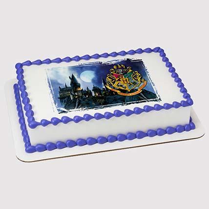 Hogwarts Logo Photo Cake: Harry Potter Cakes