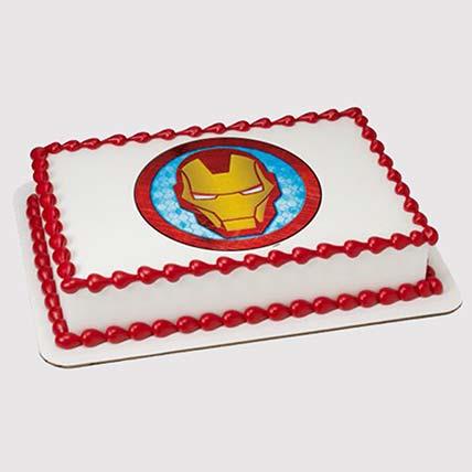 Iron Man Logo Photo Cake: Iron Man Cake