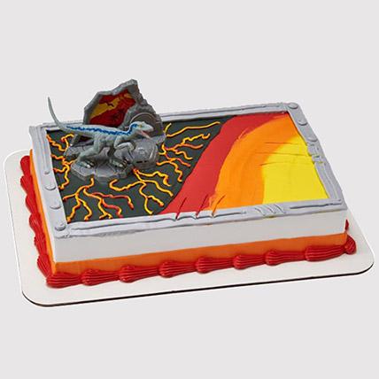 Jurassic Wolrd Fallen Cake: Dinosaur Cake