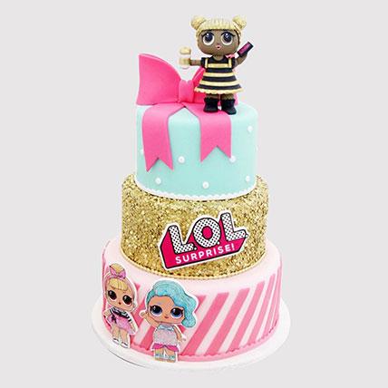 Lol Surprise 3 Layered Cake: LOL Cakes