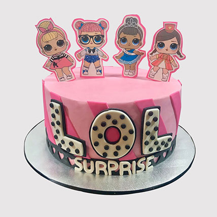 Lol Surprise Themed Fondant Cake: LOL Surprise Cakes