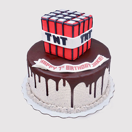 Minecraft TNT Birthday Cake: Minecraft Cakes