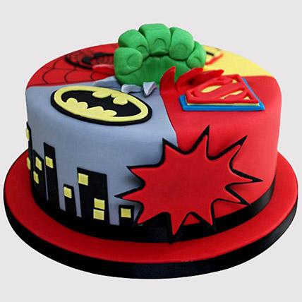 Superheroes Avengers Cake: Avengers Theme Cake
