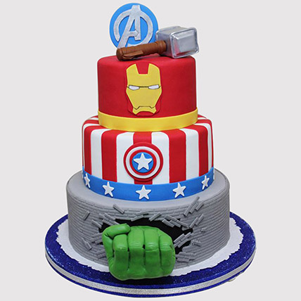 Three Tier Avengers Cake: Avengers Cakes