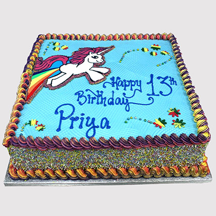 Unicorn Rainbow Cake: Unicorn Cake Dubai