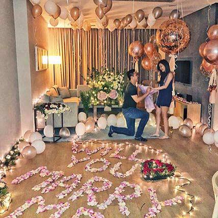 Marry Me Balloon Decor: Flower Decorations