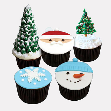 Christmas Fondant Cupcakes: Cupcakes Dubai