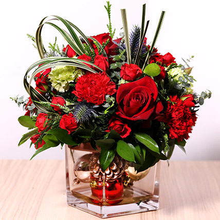 Decorative Xmas Floral Vase: New Year Gifts