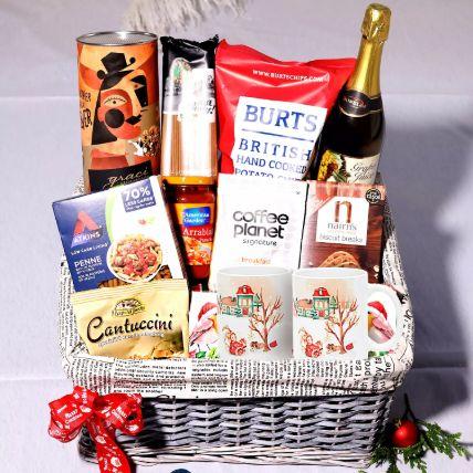 Sparkling Juice And Snack Basket: Gift Hampers