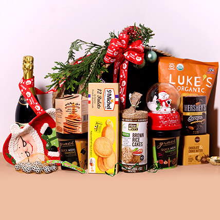 Sparkling Juice And Snack Hamper: New Year Gifts