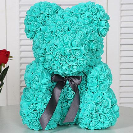 Artificial Roses Teddy Dark Turquoise: Rose Teddy Bears