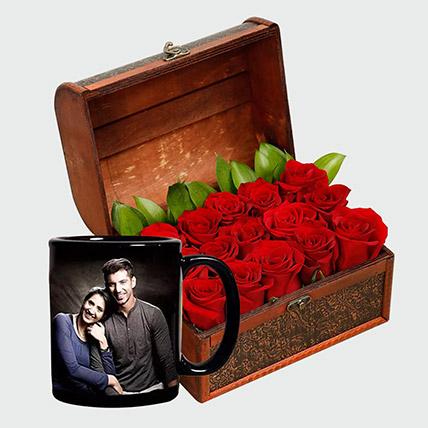 Romantic Roses and Personalised Mug: