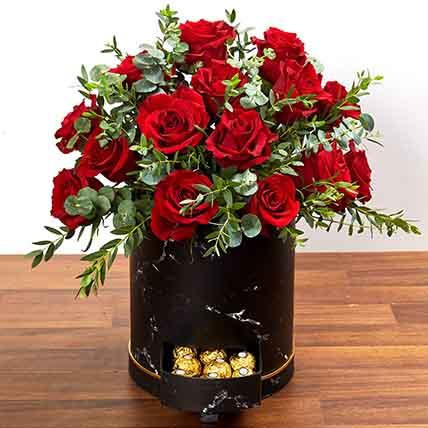 30 Roses Box Arrangement: Flower Box Dubai