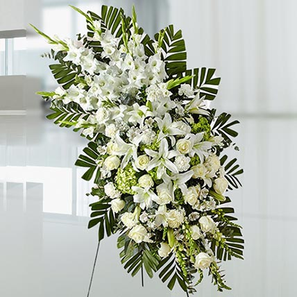 Luxurious White Flowers: Sympathy & Funeral Flowers